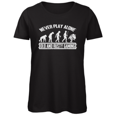 Motiv: Organic Lady T-Shirt - Evolution PUBG never play alone black or white