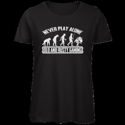 Motiv: Organic Lady T-Shirt - Evolution PUBG never play alone black or white