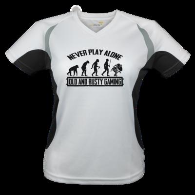 Motiv: Laufshirt Lady Running T - Evolution PUBG never play alone black or white