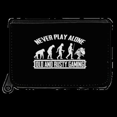 Motiv: Geldboerse - Evolution PUBG never play alone black or white