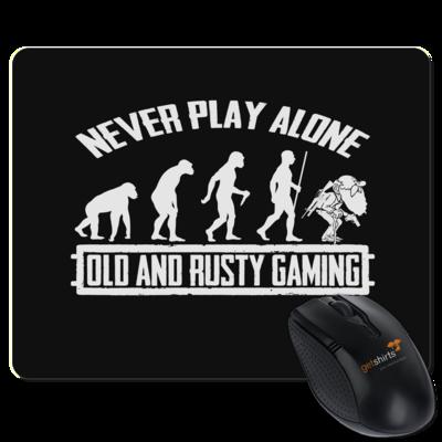 Motiv: Mousepad Textil - Evolution PUBG never play alone black or white