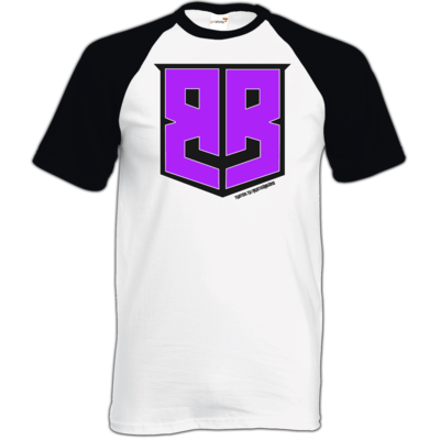 Motiv: TShirt Baseball - Purple Logo