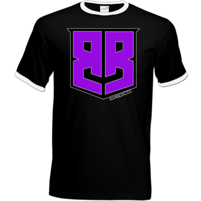 Motiv: T-Shirt Ringer - Purple Logo