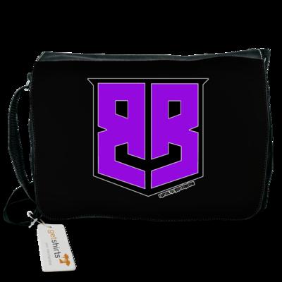 Motiv: Schultertasche - Purple Logo