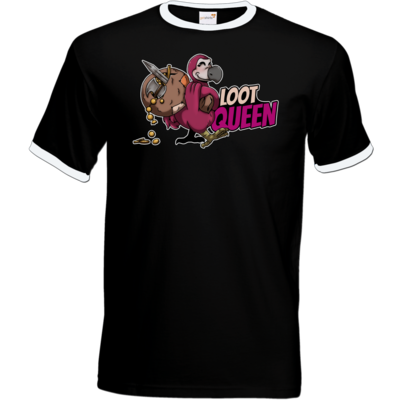 Motiv: T-Shirt Ringer - Loot-Queen