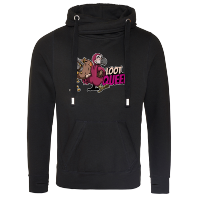 Motiv: Cross Neck Hoodie - Loot-Queen