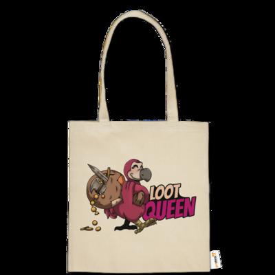 Motiv: Baumwolltasche - Loot-Queen