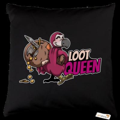 Motiv: Kissen Baumwolle - Loot-Queen