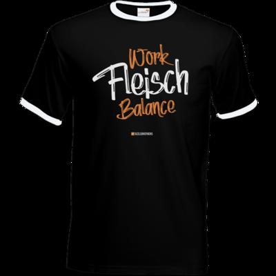 Motiv: T-Shirt Ringer - Fleisch Balance