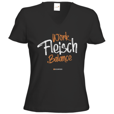 Motiv: T-Shirts Damen V-Neck FAIR WEAR - Fleisch Balance