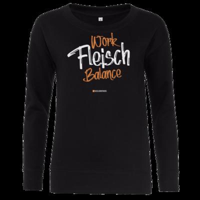 Motiv: Girlie Crew Sweatshirt - Fleisch Balance