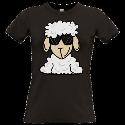 Motiv: T-Shirt Damen Premium FAIR WEAR - ZOS Schaf mit Sonnenbrille