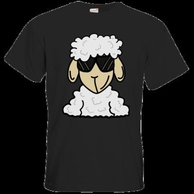 Motiv: T-Shirt Premium FAIR WEAR - ZOS Schaf mit Sonnenbrille