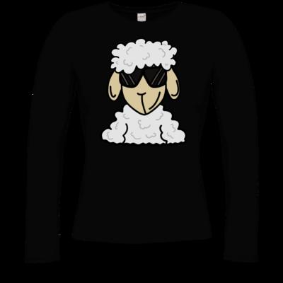 Motiv: Longsleeve Damen Organic - ZOS Schaf mit Sonnenbrille