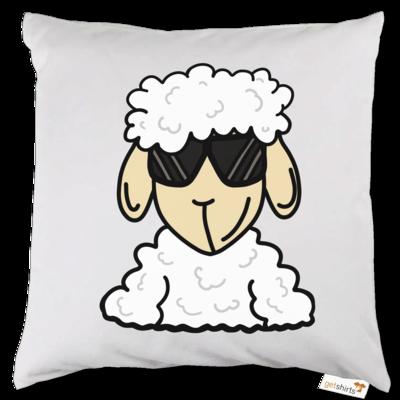 Motiv: Kissen - ZOS Schaf mit Sonnenbrille