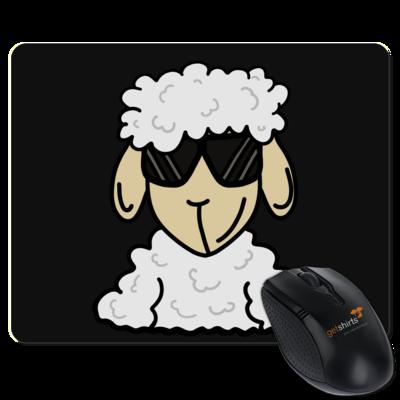 Motiv: Mousepad Textil - ZOS Schaf mit Sonnenbrille