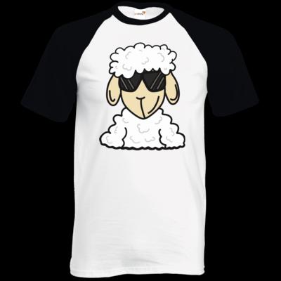 Motiv: TShirt Baseball - ZOS Schaf mit Sonnenbrille