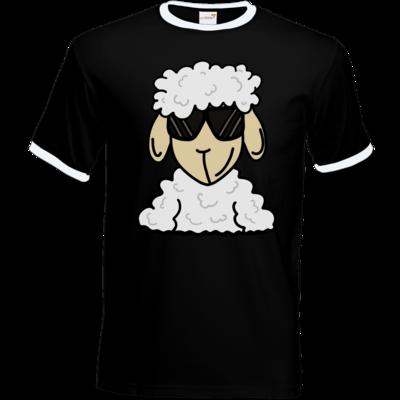 Motiv: T-Shirt Ringer - ZOS Schaf mit Sonnenbrille