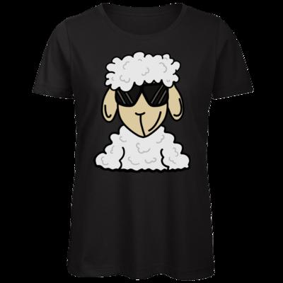 Motiv: Organic Lady T-Shirt - ZOS Schaf mit Sonnenbrille