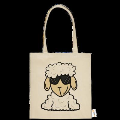 Motiv: Baumwolltasche - ZOS Schaf mit Sonnenbrille