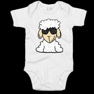 Motiv: Baby Body Organic - ZOS Schaf mit Sonnenbrille
