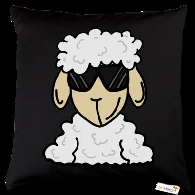 Motiv: Kissen Baumwolle - ZOS Schaf mit Sonnenbrille