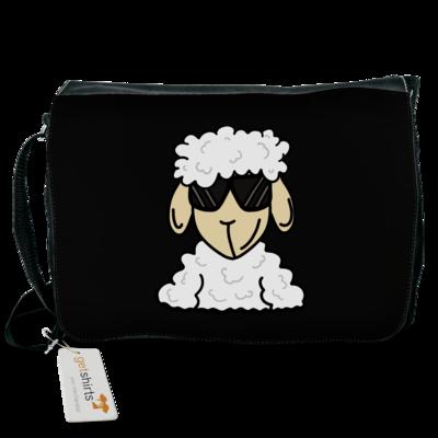 Motiv: Schultertasche - ZOS Schaf mit Sonnenbrille