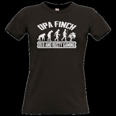 Motiv: T-Shirt Damen Premium FAIR WEAR - Evolution PUBG und OpaFinch