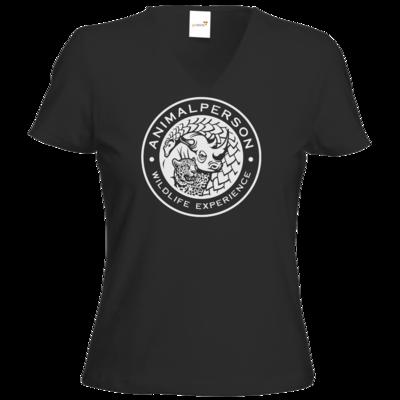 Motiv: T-Shirt Damen V-Neck Classic - AnimalPerson - Logo