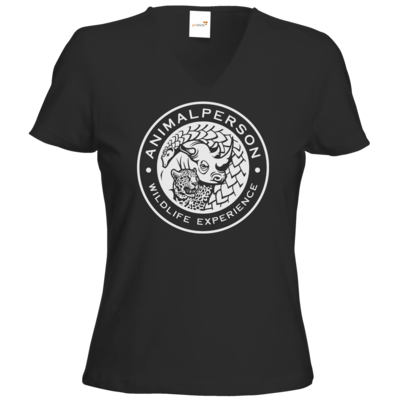 Motiv: T-Shirts Damen V-Neck FAIR WEAR - AnimalPerson - Logo