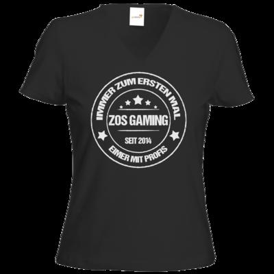 Motiv: T-Shirts Damen V-Neck FAIR WEAR - ZOS Vintage - Eimer mit Profis