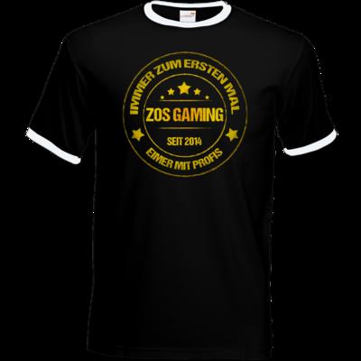 Motiv: T-Shirt Ringer - ZOS Vintage GOLD - Eimer mit Profis