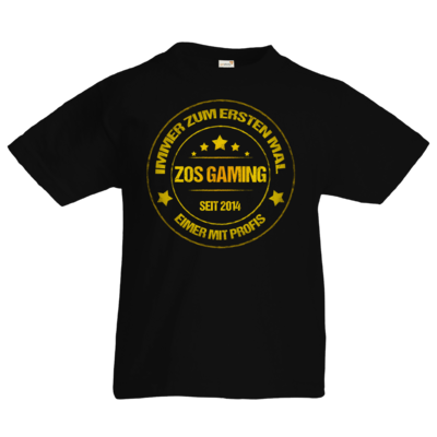 Motiv: Kids T-Shirt Premium FAIR WEAR - ZOS Vintage GOLD - Eimer mit Profis