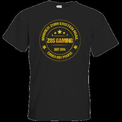 Motiv: T-Shirt Premium FAIR WEAR - ZOS Vintage GOLD - Eimer mit Profis