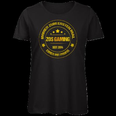 Motiv: Organic Lady T-Shirt - ZOS Vintage GOLD - Eimer mit Profis