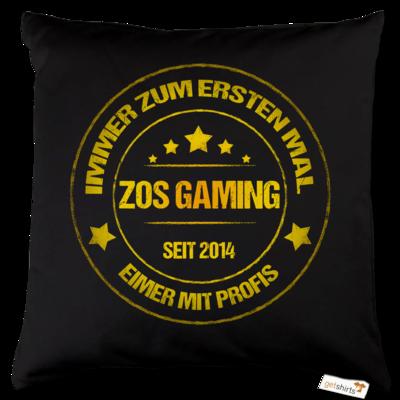 Motiv: Kissen Baumwolle - ZOS Vintage GOLD - Eimer mit Profis