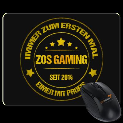 Motiv: Mousepad Textil - ZOS Vintage GOLD - Eimer mit Profis