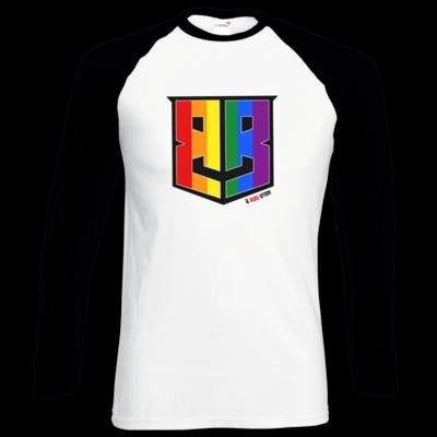 Motiv: Longsleeve Baseball T - Logo Pride