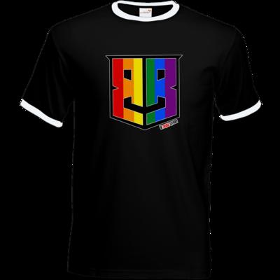 Motiv: T-Shirt Ringer - Logo Pride