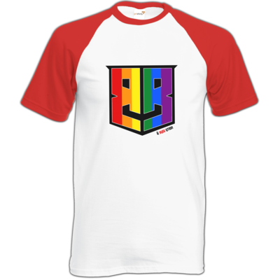 Motiv: Baseball-T FAIR WEAR - Logo Pride