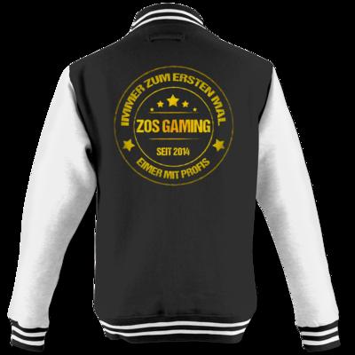 Motiv: College Jacke - ZOS Vintage GOLD - Eimer mit Profis