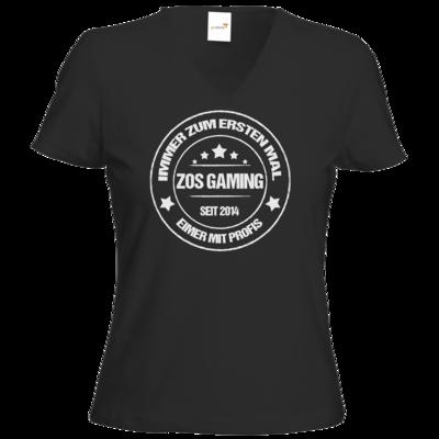 Motiv: T-Shirt Damen V-Neck Classic - ZOS Vintage - Eimer mit Profis