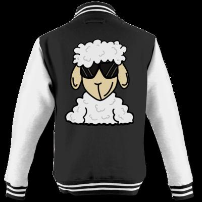 Motiv: College Jacke - ZOS Schaf mit Sonnenbrille