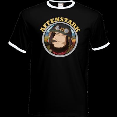Motiv: T-Shirt Ringer - Affenstark