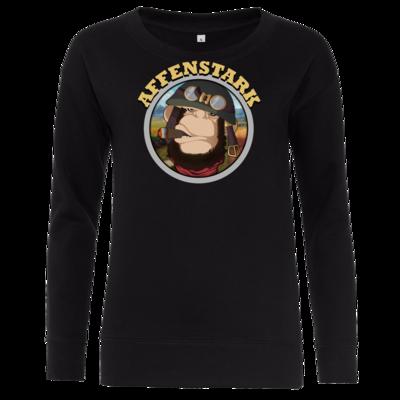 Motiv: Girlie Crew Sweatshirt - Affenstark