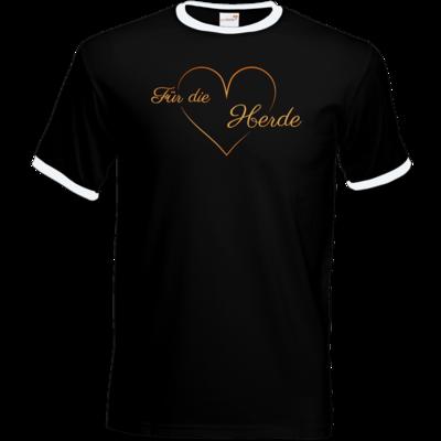 Motiv: T-Shirt Ringer - Für die Herde - Herz