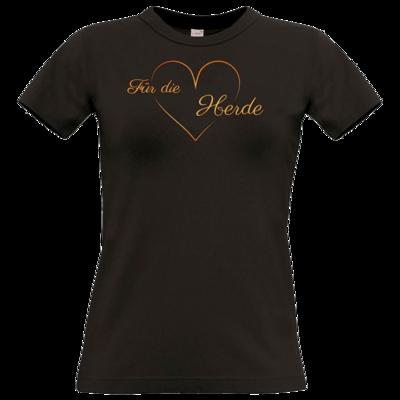 Motiv: T-Shirt Damen Premium FAIR WEAR - Für die Herde - Herz