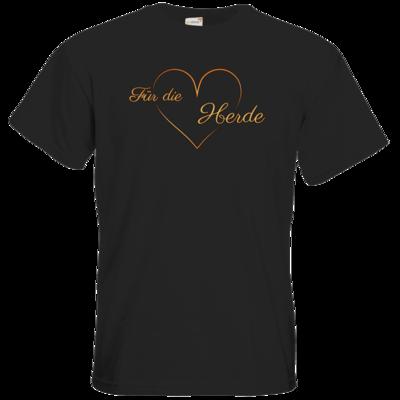 Motiv: T-Shirt Premium FAIR WEAR - Für die Herde - Herz