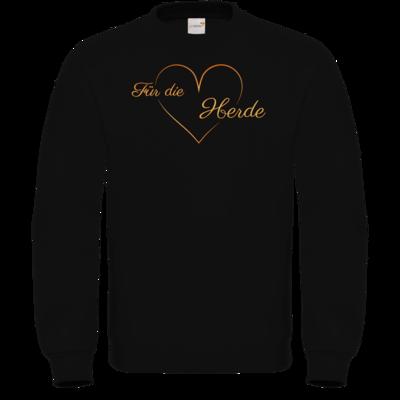 Motiv: Sweatshirt FAIR WEAR - Für die Herde - Herz