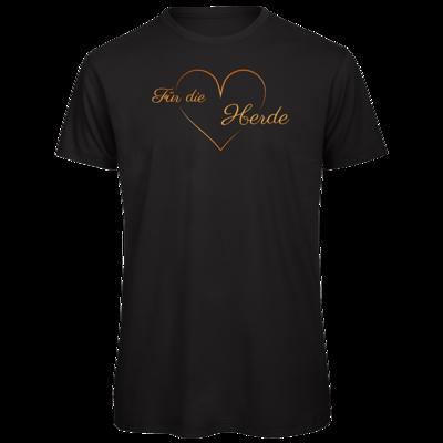 Motiv: Organic T-Shirt - Für die Herde - Herz